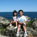 Ethan and Sarah on the Marginal Way in Ogunquit