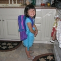 Sarahs first day of preschool