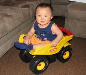 Ethan's New Tonka Truck